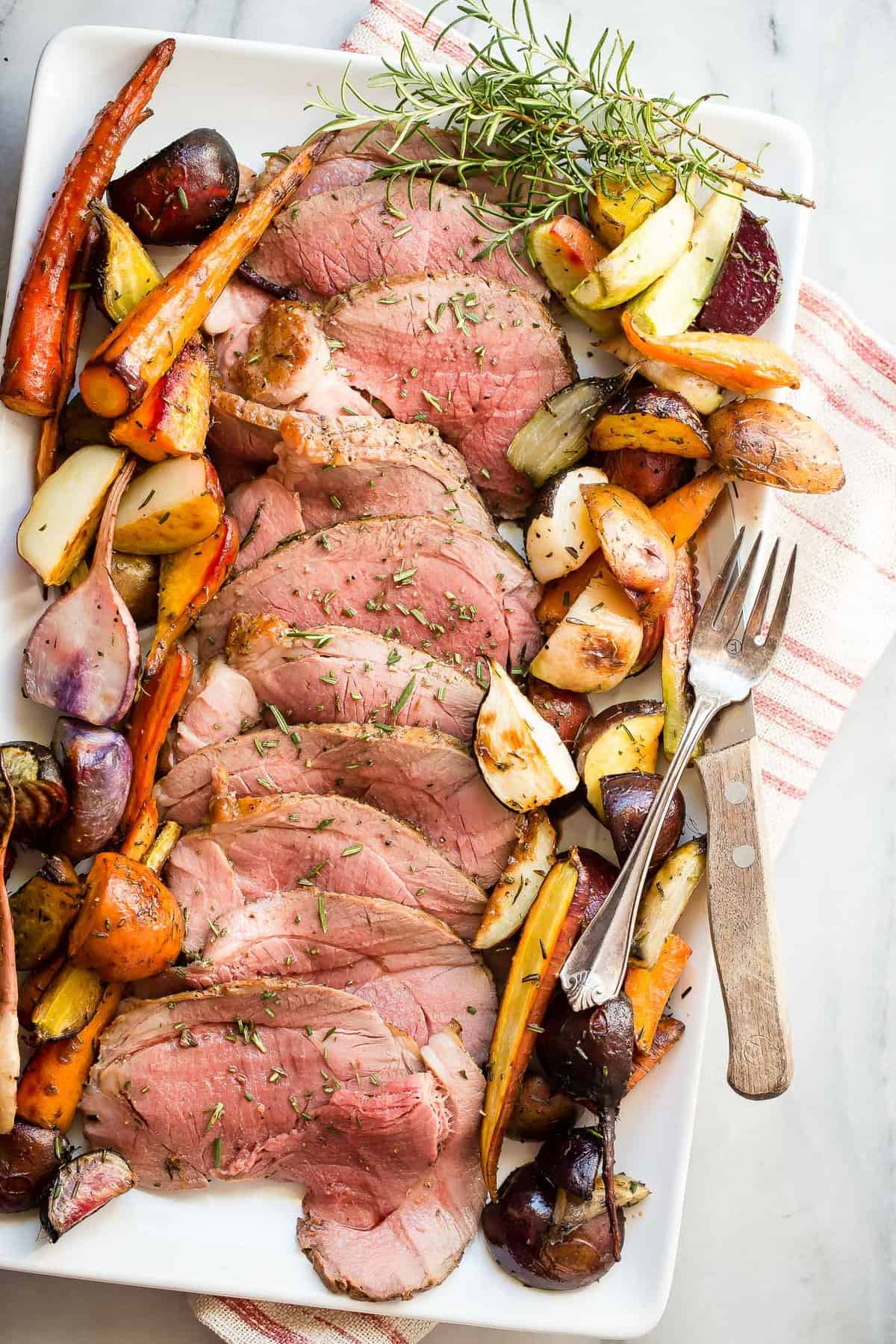 Roast leg of lamb with roasted root vegetables foodness gracious juicy roast leg of lamb served with roasted root vegetables forumfinder Choice Image