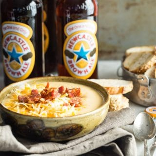 Creamy chorizo con queso made with Spanish sausage chorizo and melted Colby Jack cheese.
