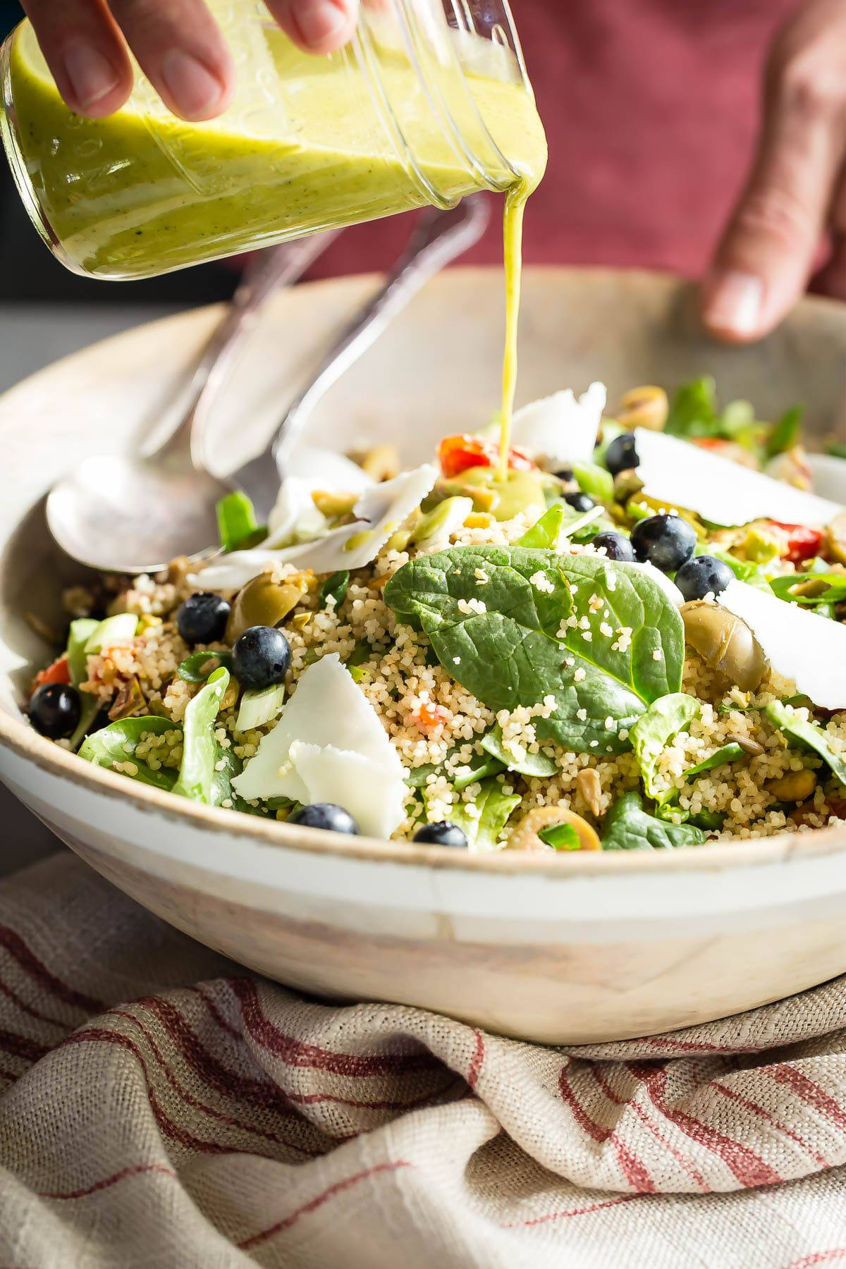 Healthy Couscous Salad with Roasted Tomatoes