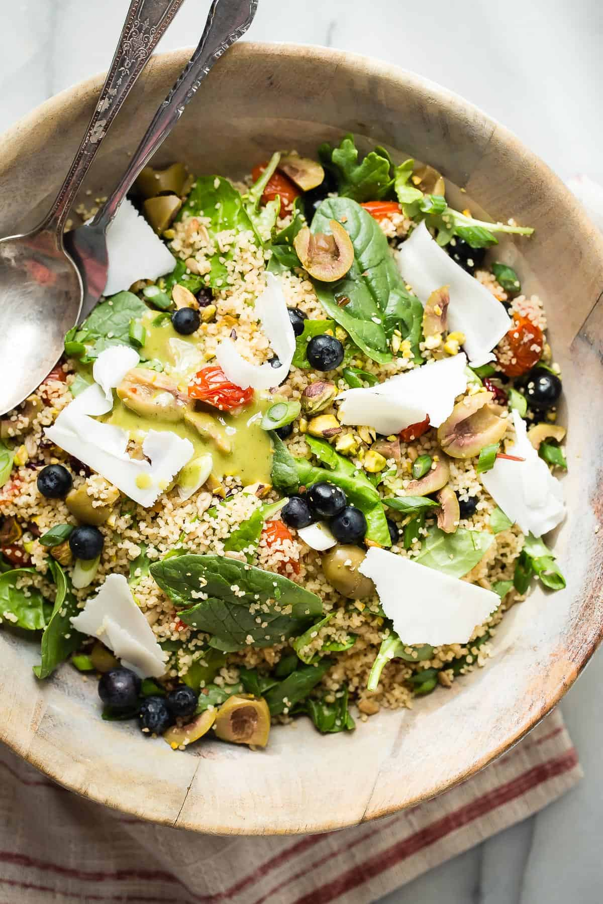 Healthy Couscous Salad with Roasted Tomatoes - Foodness Gracious