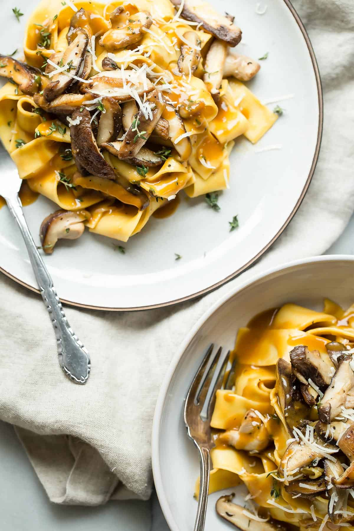 Shiitake mushroom pasta sauce recipe