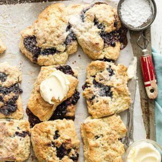 Blueberry Jam Scones