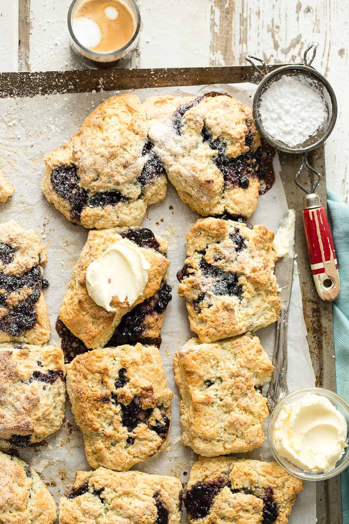 Homemade blueberry jam scones just like Starbucks