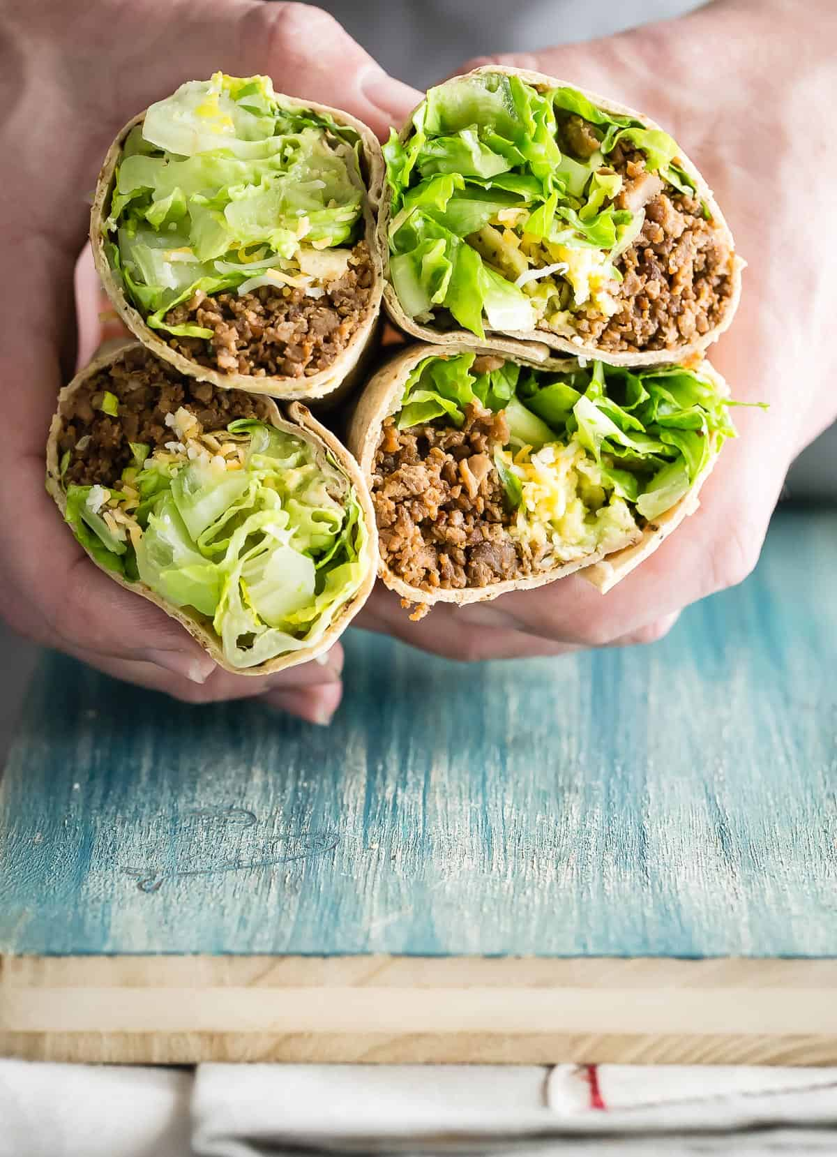 Everyones favorite taco flavors wrapped in a Flatout Sea Salt and Black Pepper wrap