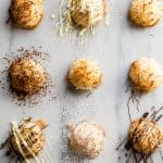 Sweet coconut macaroons with chocolate