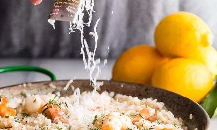 Lemon Shrimp Risotto with Fresh Rosemary