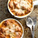 A thick rich red tomato sauce with creamy ricotta cheese make the best Lasagna for dinner.