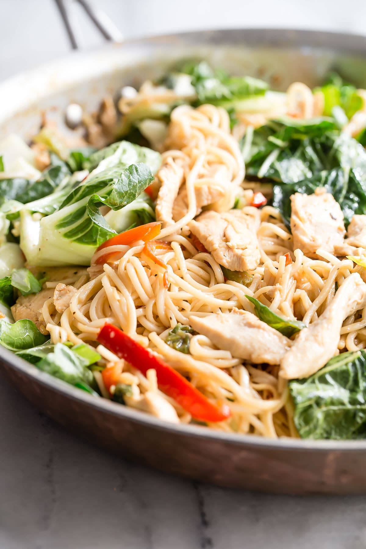 Quick And Easy Chicken Chow Mein Foodness Gracious