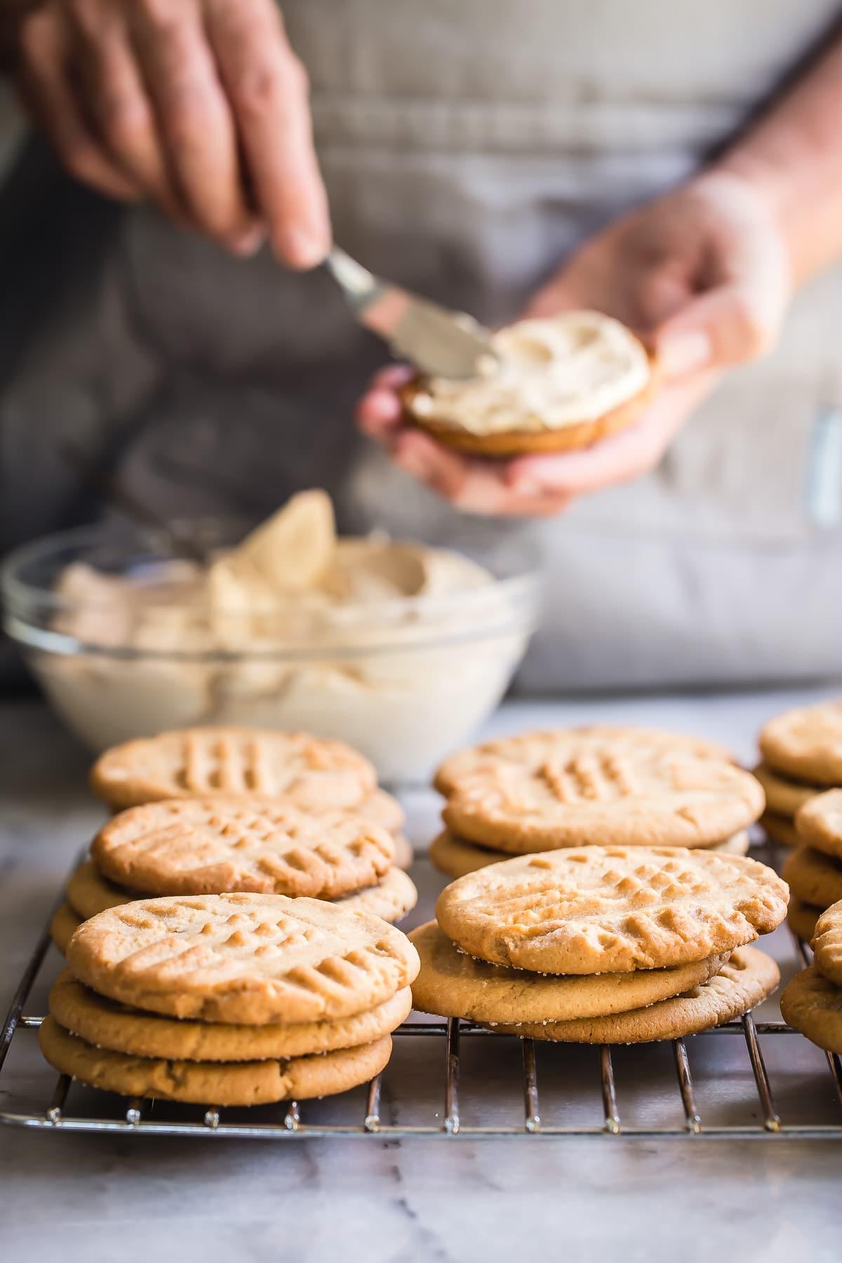 Peanut Butter Jelly Sandwich Cookies