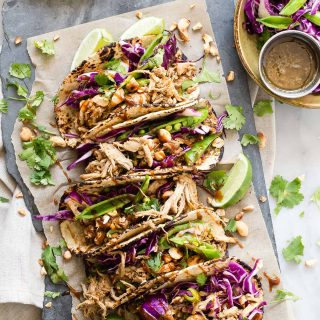 Shredded Pork Taco with Hoisin and Asian Slaw