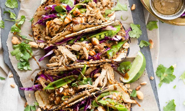 Shredded Pork Tacos with Hoisin and Asian Slaw