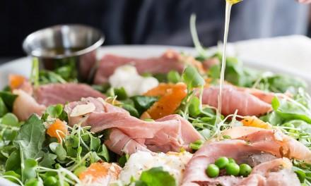 Capicolla Salad with Burrata and Micro Kale