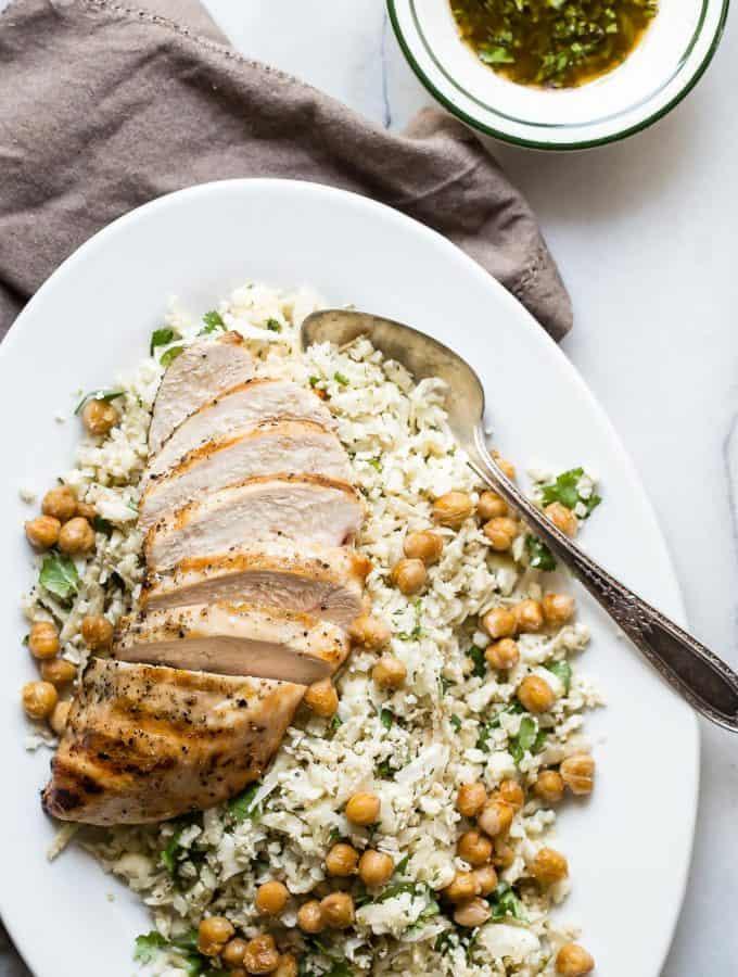 Cauliflower Rice with Grilled Chicken