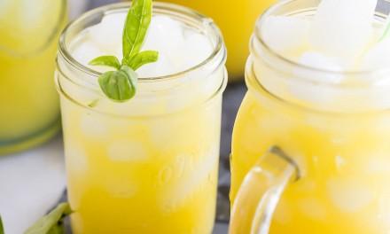 Mango and Basil Sparkling Spritzer