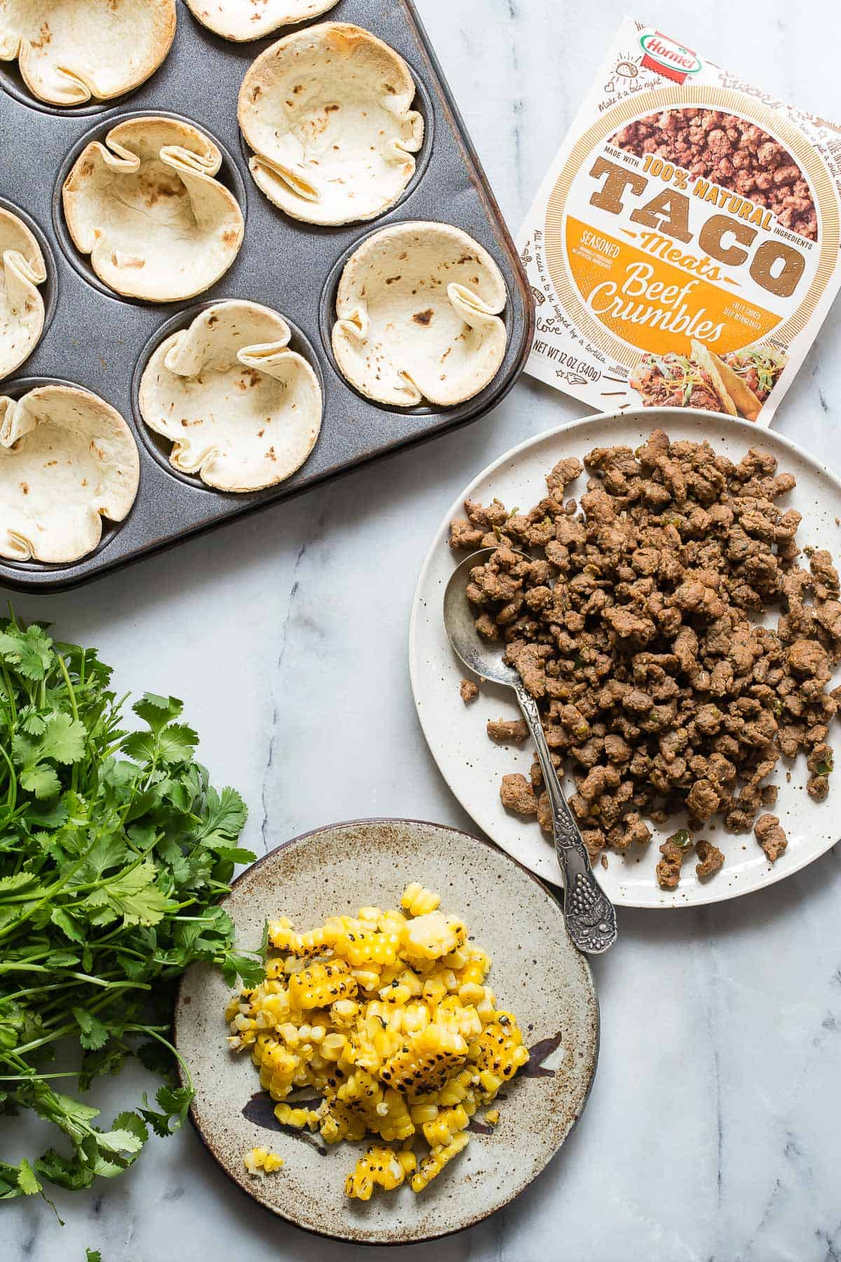 Individual Beef Taco Cups