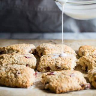 Cherry Scones with Toasted Almonds