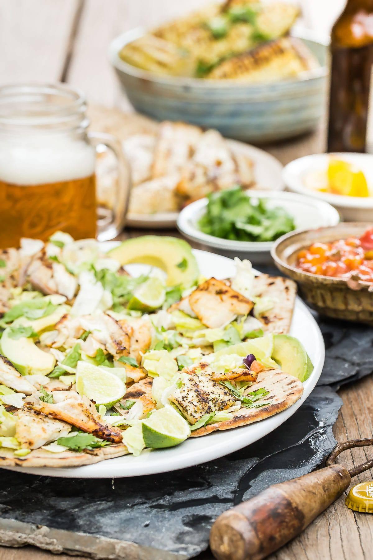 Grilled Tilapia Fish Tacos with Flatout Foldits