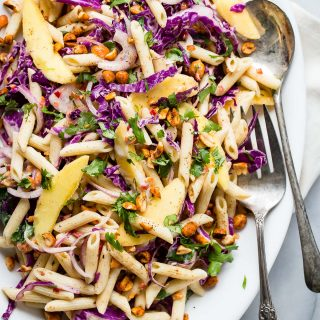 Pasta Salad with Mango Citrus Yogurt Dressing