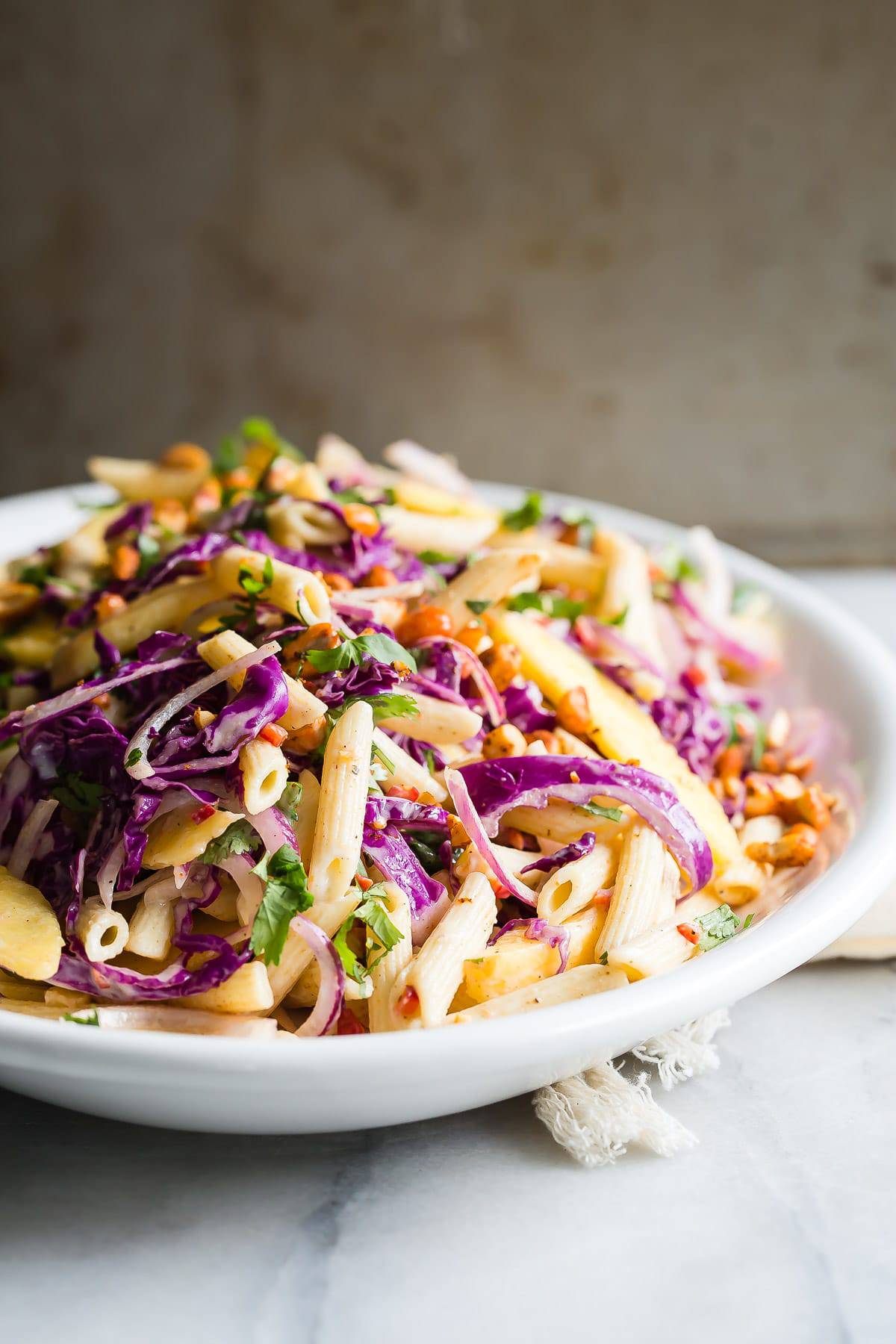 Pasta Salad with Mango and Citrus Yogurt Dressing