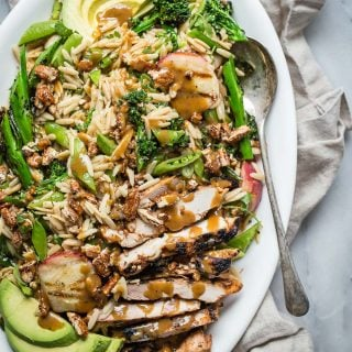 Orzo Salad with Balsamic Grilled Chicken