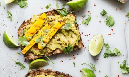 Sabra Guacamole Toast with Mango and Lime