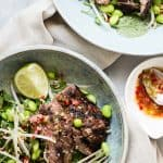 Steak Salad with Beansprouts and Watercress