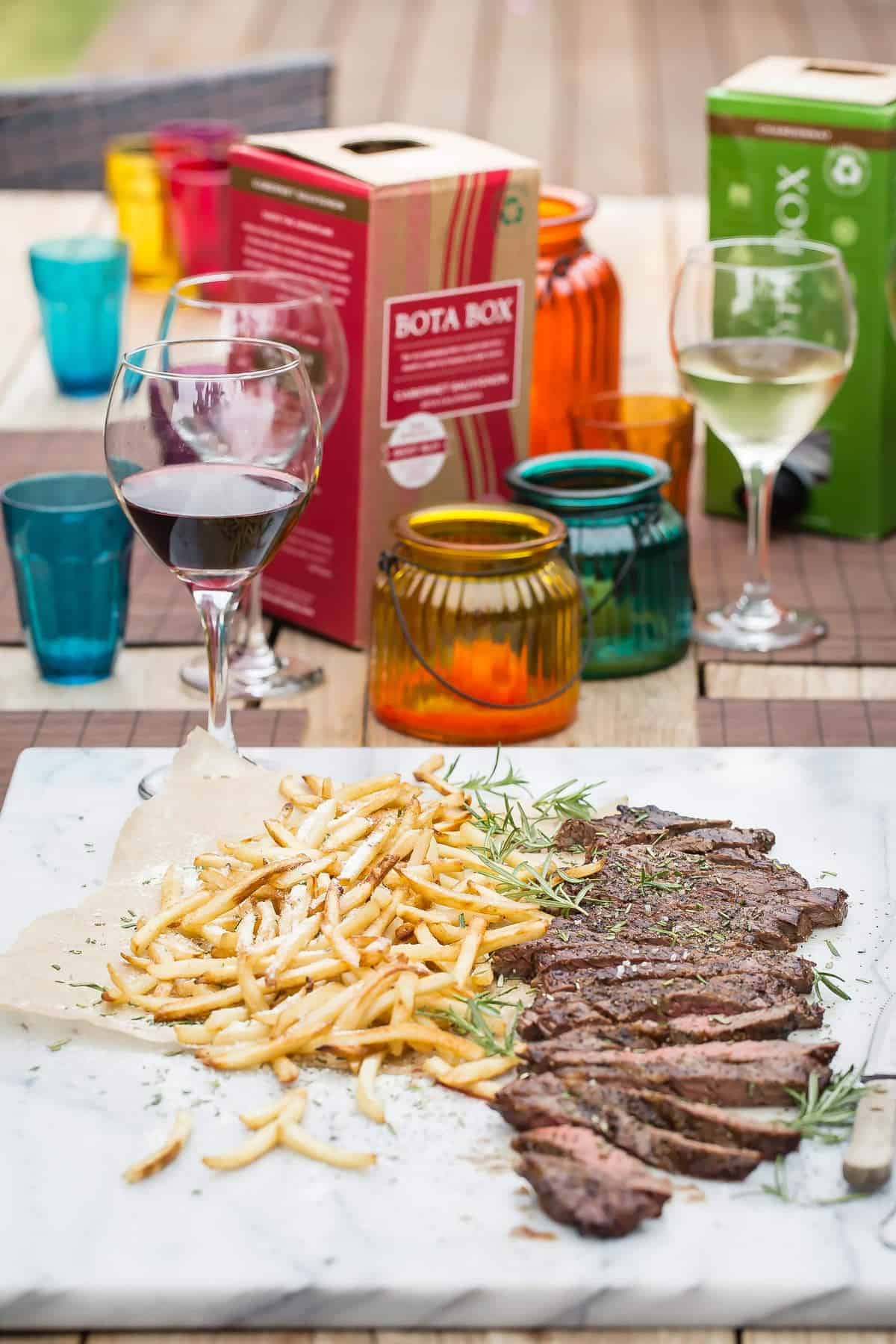 Skirt Steak with Parmesan Fries
