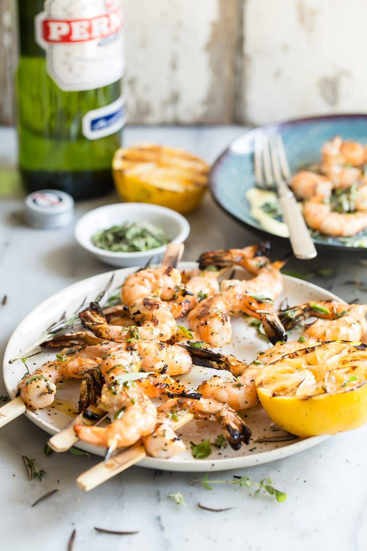 Grilled Shrimp Skewers with Lemon Aioli