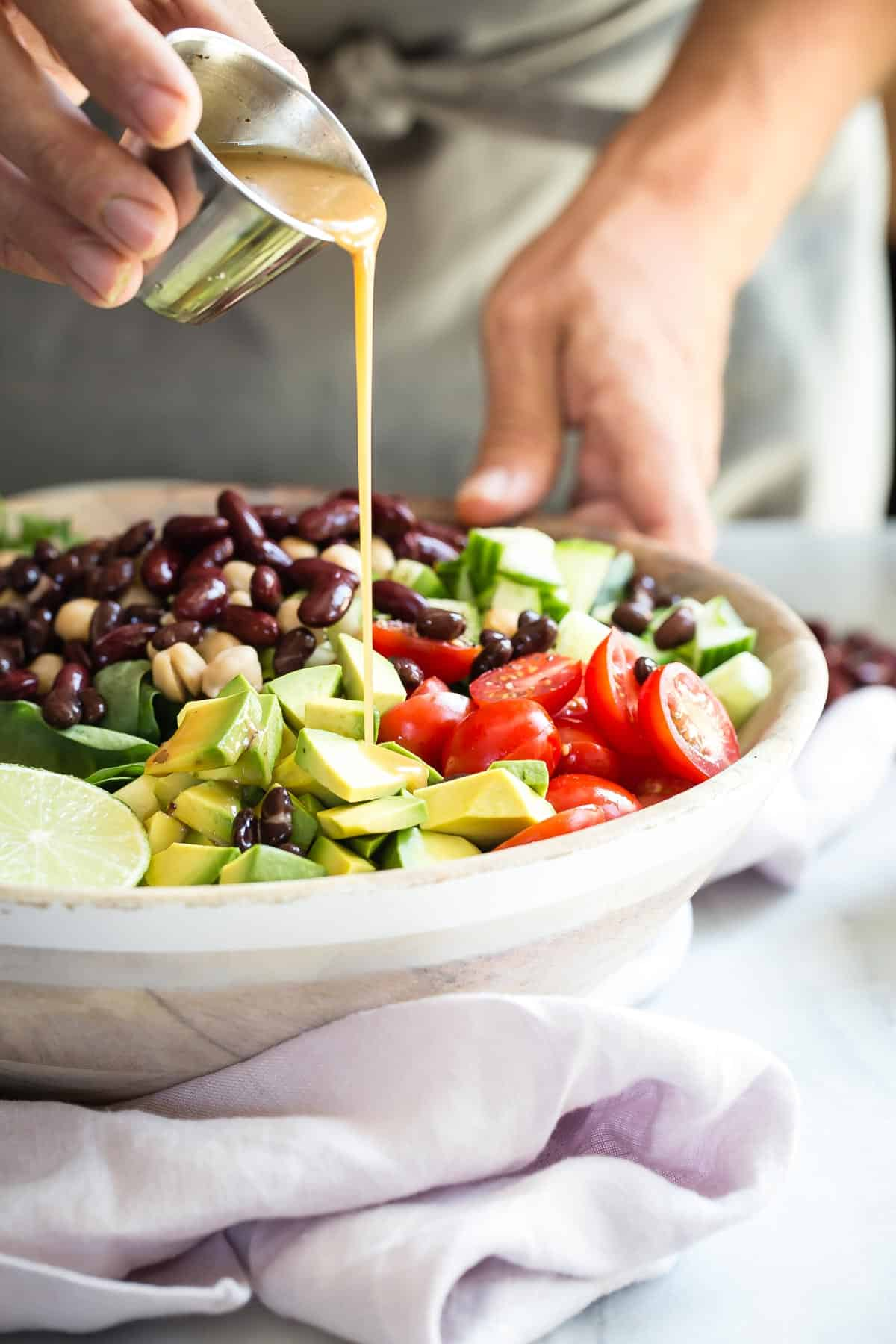 Healthy Summer Garden Bean Salad