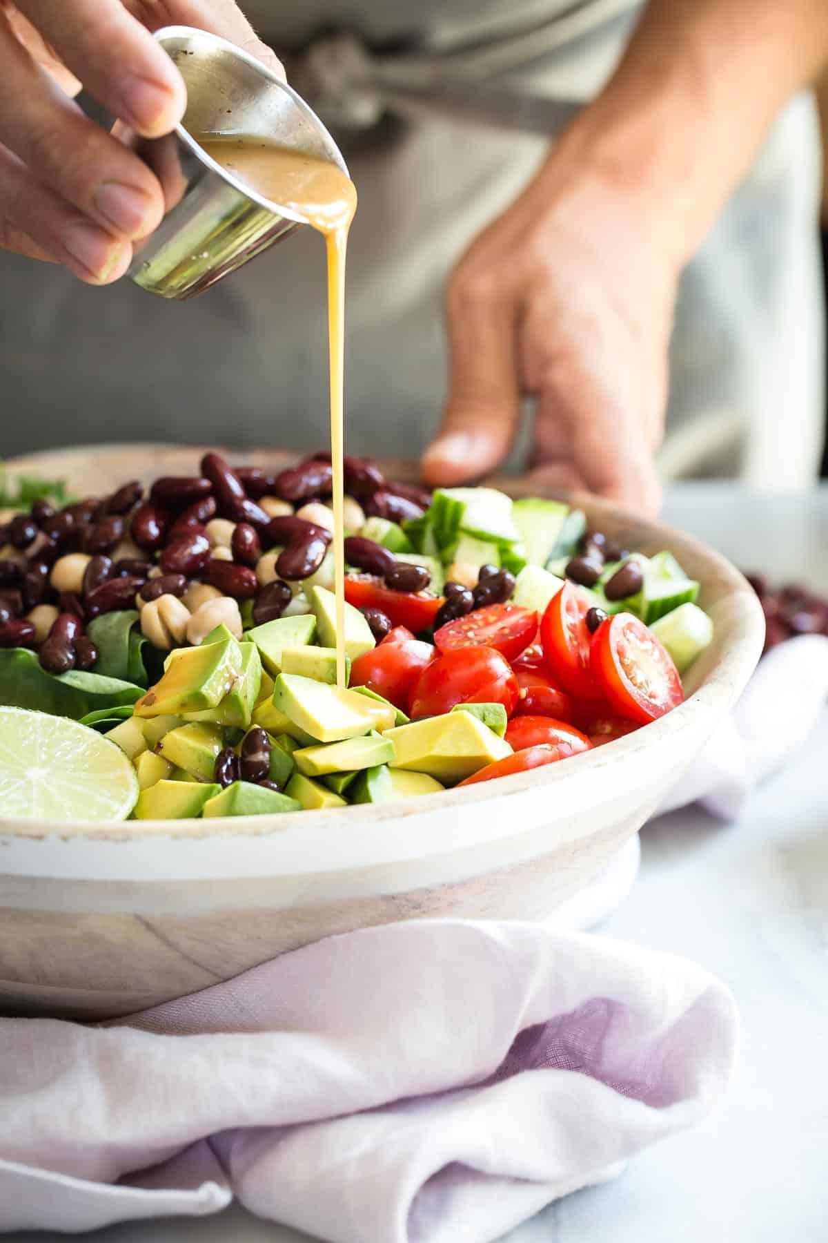 Healthy Summer Garden Bean Salad