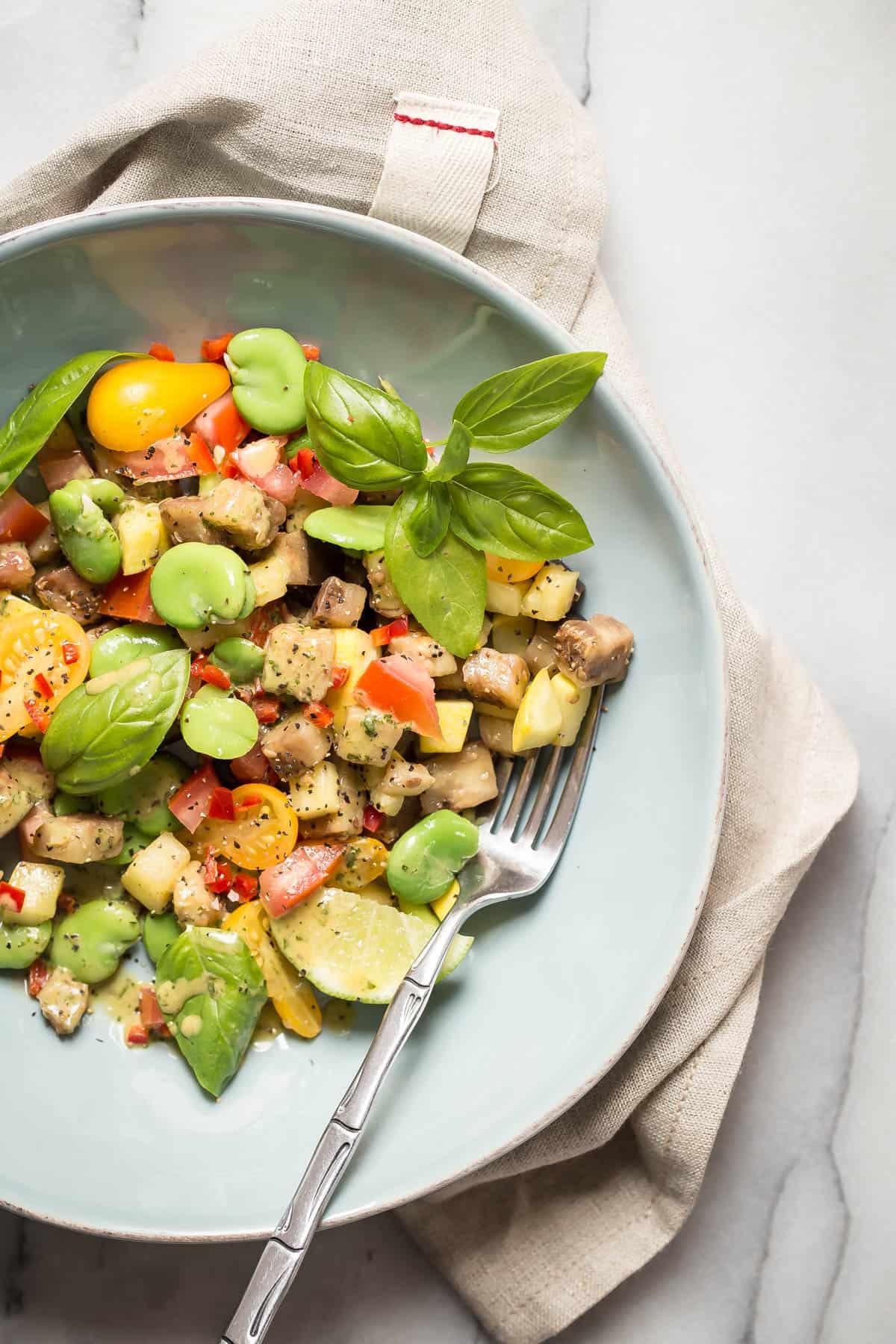 Sockeye Salmon and Fava Bean Salad