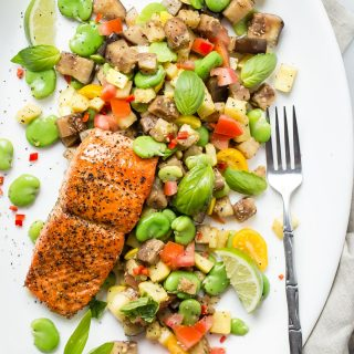 Sockeye Salmon and Fava Bean Salad