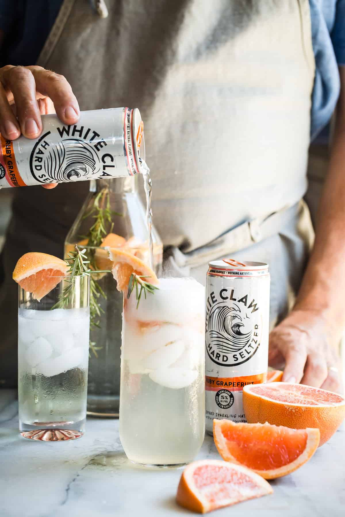 Ruby Grapefruit and Rosemary Sparkling Seltzer