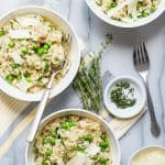 Easy Risotto with Peas and Pancetta