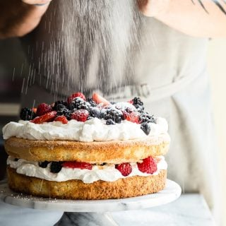 Mixed Berry and Cream Sponge Cake