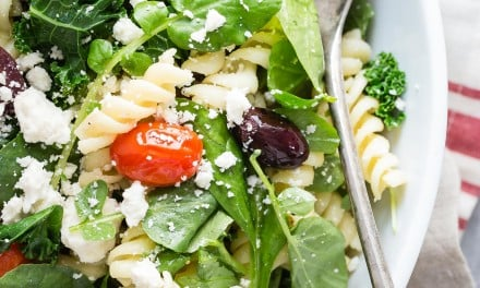 Rotini Pasta Salad with Mixed Greens