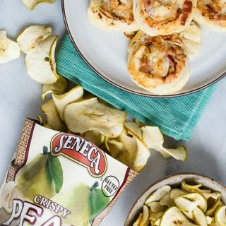 Dried Pear and Bacon Puff Pastry Pinwheels