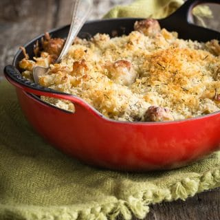 Mac and Cheese with Fennel and Chicken Apple Sausage