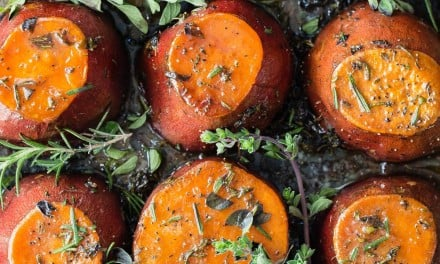Sweet Potatoes with Herbs and Caramelized Butter