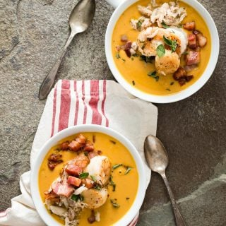 Sweet Potato Chowder with Crispy Pancetta Chunks