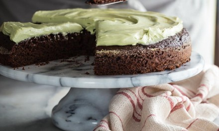 Chocolate Zucchini Cake with Matcha Frosting