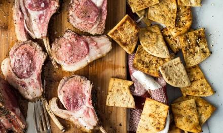 Lamb Chops with Za'atar and Olive Oil Dip