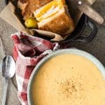 Loaded Potato Soup with Turkey Grilled Cheese