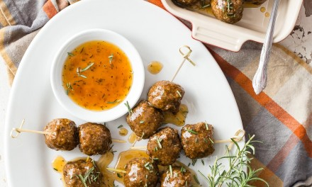 Vegetarian Meatballs with Apricot Balsamic Sauce