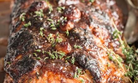 Roast Pork Loin with a Raspberry Balsamic Glaze