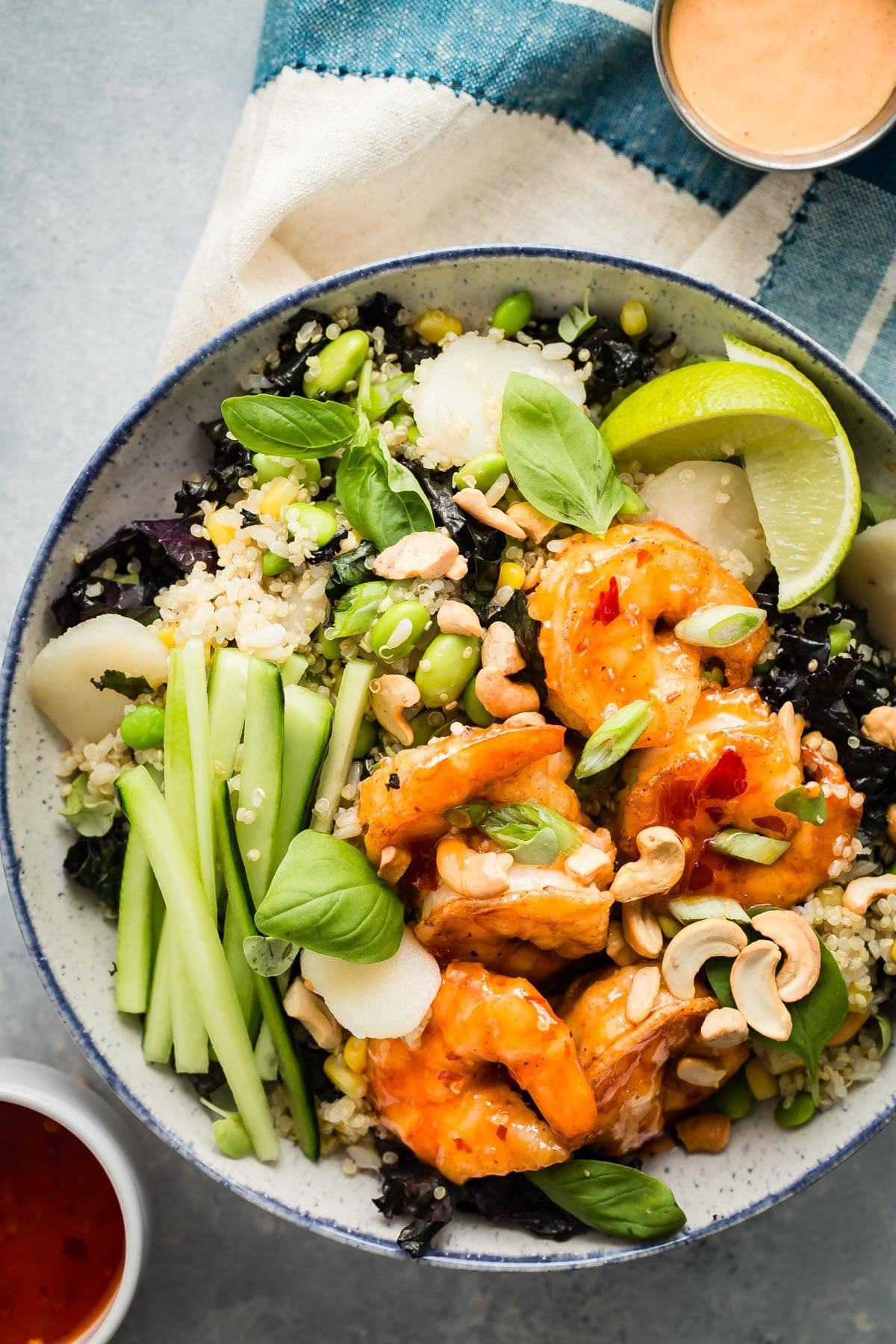 Healthy Dynamite Shrimp Grain Bowl