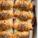 Ham And Cheese Croissants with Everything Seed Topping
