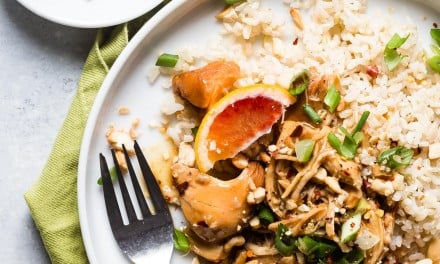 Slow Cooker Easy Orange Chicken and Brown Rice