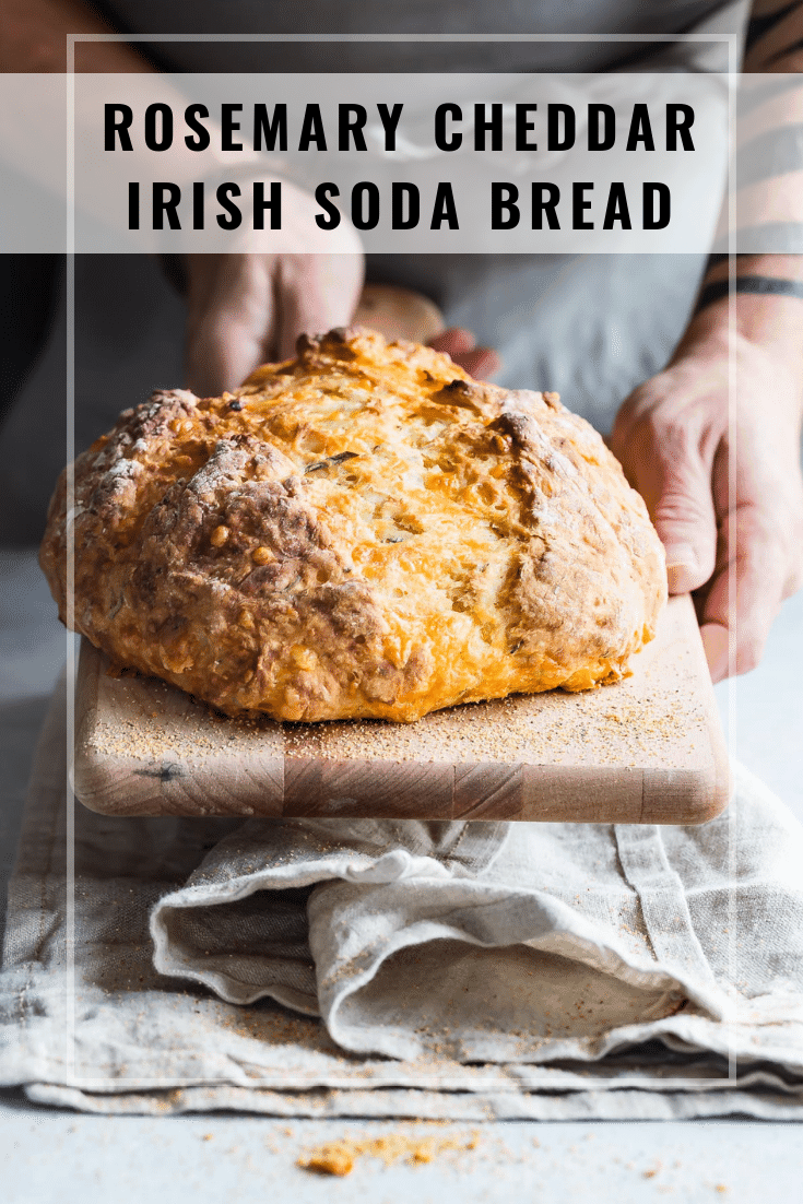 titled photo (and shown): Rosemary Cheddar Irish Soda Bread