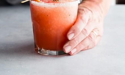 Blood Orange Margarita with Rosemary